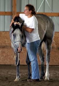 Jennifer Cain with Gray